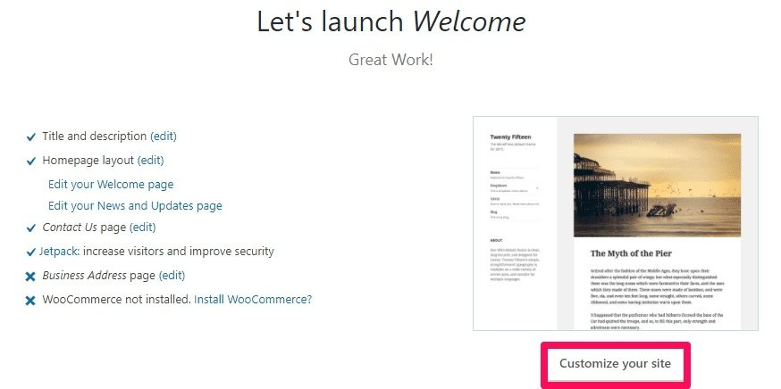 Bluehost-WordPress-customize-your-site