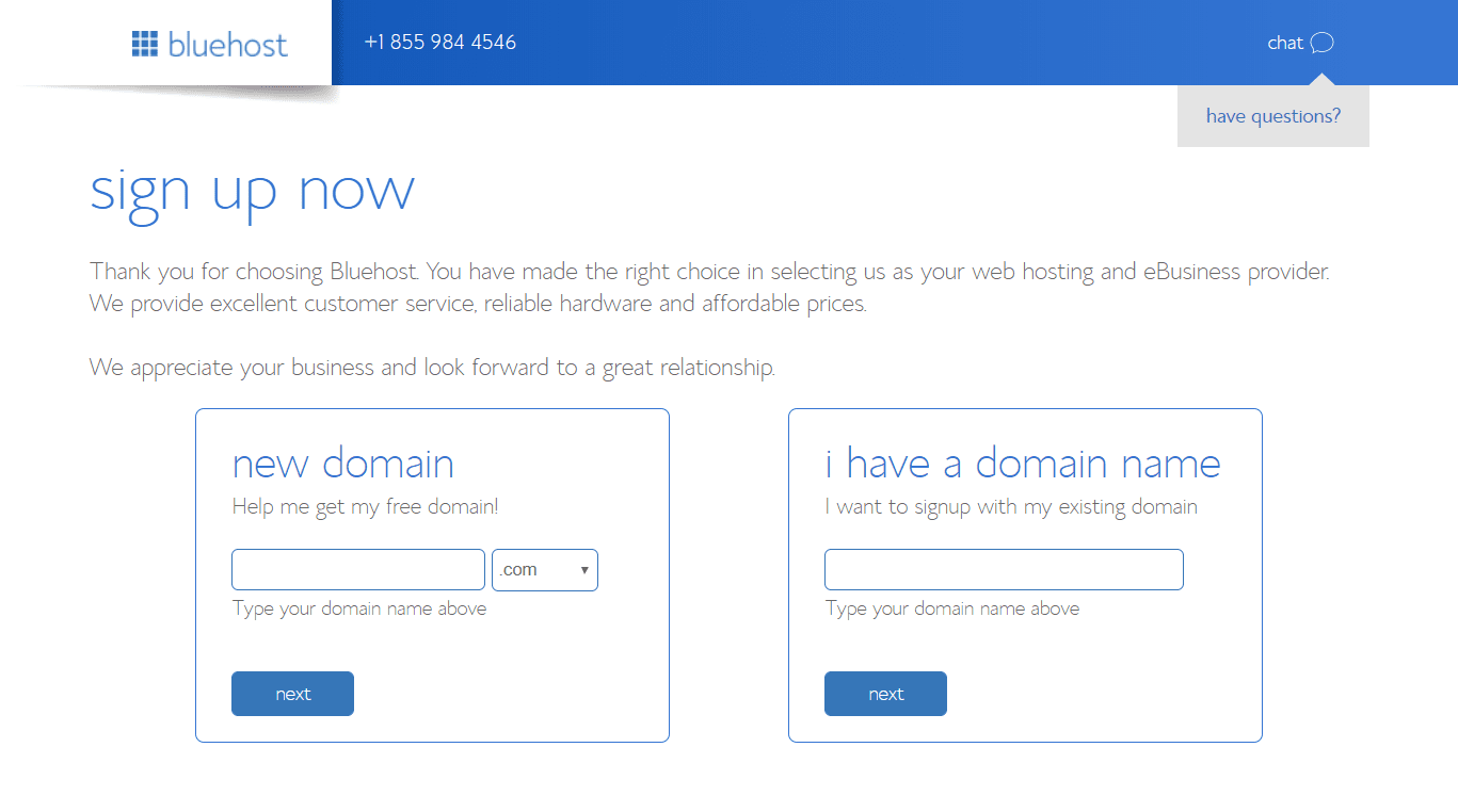 Blue host blog Tutorial step by step