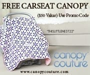 Free Car Seat Canopy Coupon code thislttlenest22