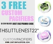 Free baby stuff with code thislittlenest22