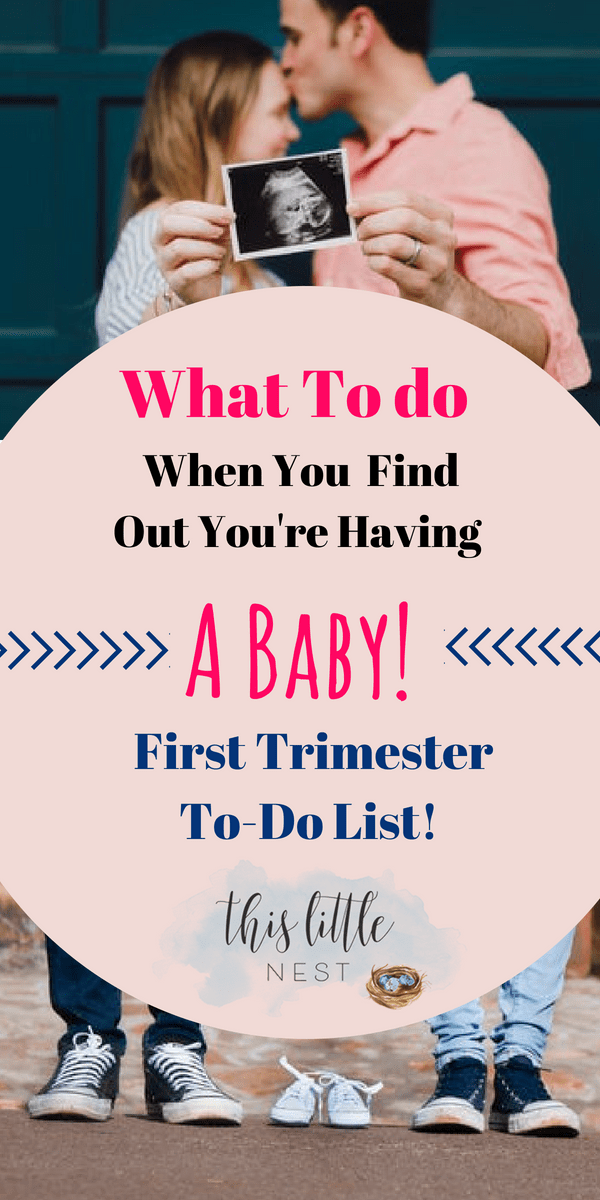 first trimester To do list #pregnancy #