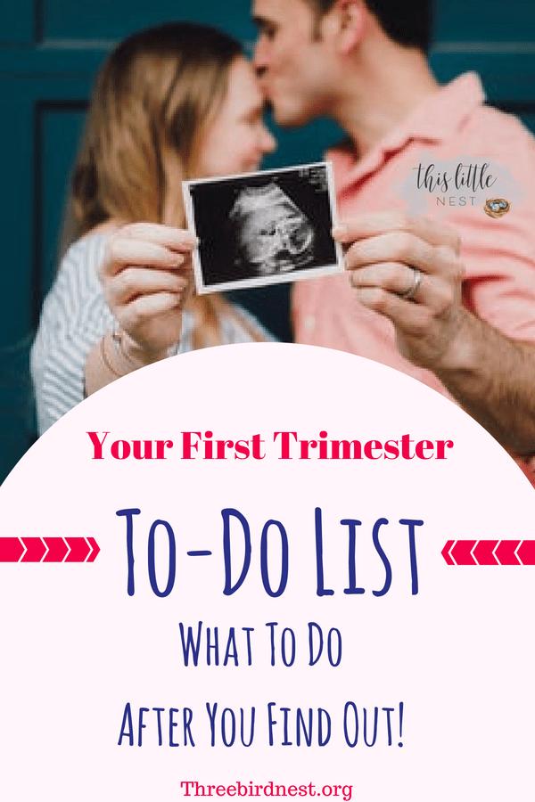 Pregnancy | First Trimester To Do List #Pregnancy #Firsttrimester