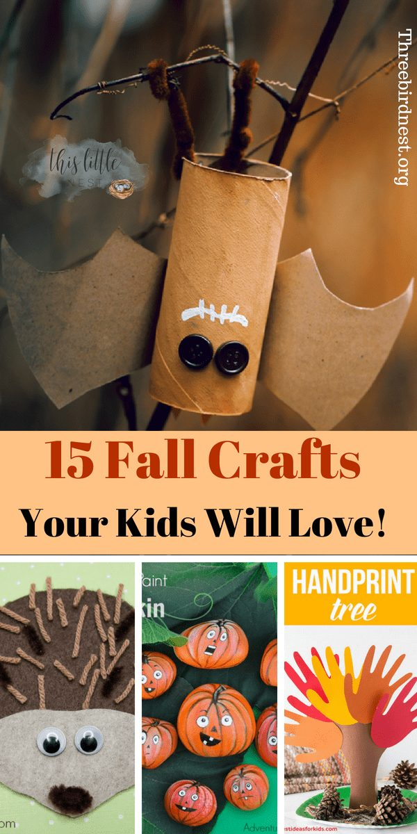 Fall Crafts For Kids #fallcrafts #autumncrafts #fallcraftsforkids