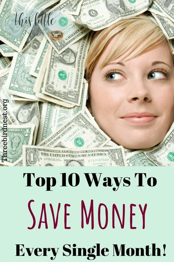 10 ways to save money each month #savemoney #moneyhacks