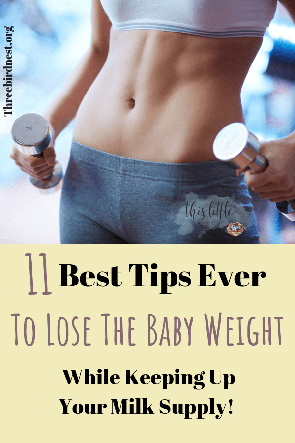 Tips to lose the baby weight while keeping up your milk supply #babyweight #losebabyweight #breastfeeding