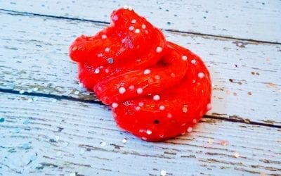 How To Make Cherry Sparkle Slime For Sensory Play