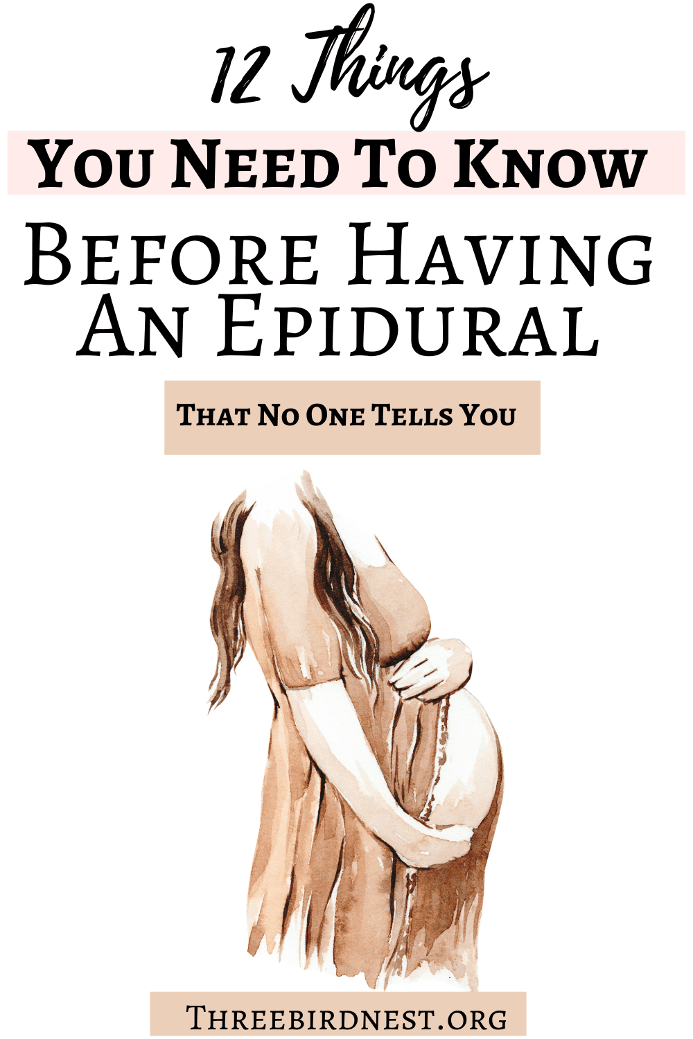 things you need to know about having an epidural.