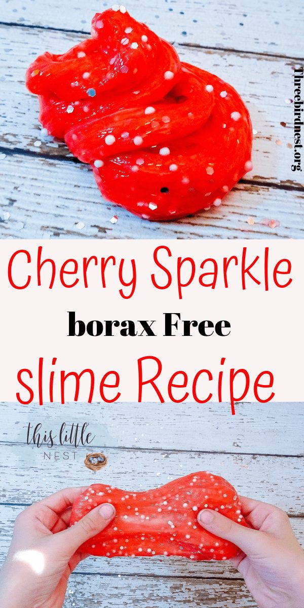 Slime Recipes, Valentine's Day Sensory Experience for Kids. Get the easiest, borax free slime recipe that you can make in 5 minutes right here. No mess, super sparkly slime fun! #slimerecipes #slimerecipe #slime #valentinesday #craftsforkids