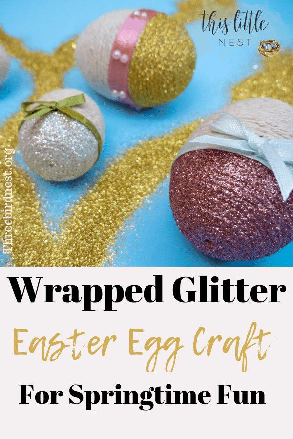 Wrapped Easter Egg Craft #easter #springtime #eastereggs #eastereggcrafts #springtimecrafts #craftsforkids #craftsforadults