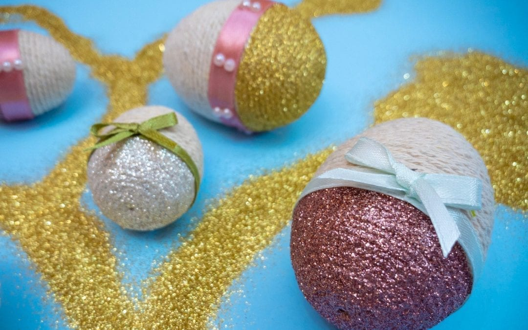 Wrapped Glitter Easter Eggs Craft For Kids And Adults Easter