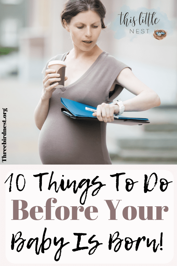 Things you're forgetting to do before baby arrives #thirdtrimester #beforebabychecklist #babychecklist #thirdtrimesterchecklist #childbirthchecklist