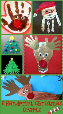 6 fun Christmas hand prints for your child to make this holiday