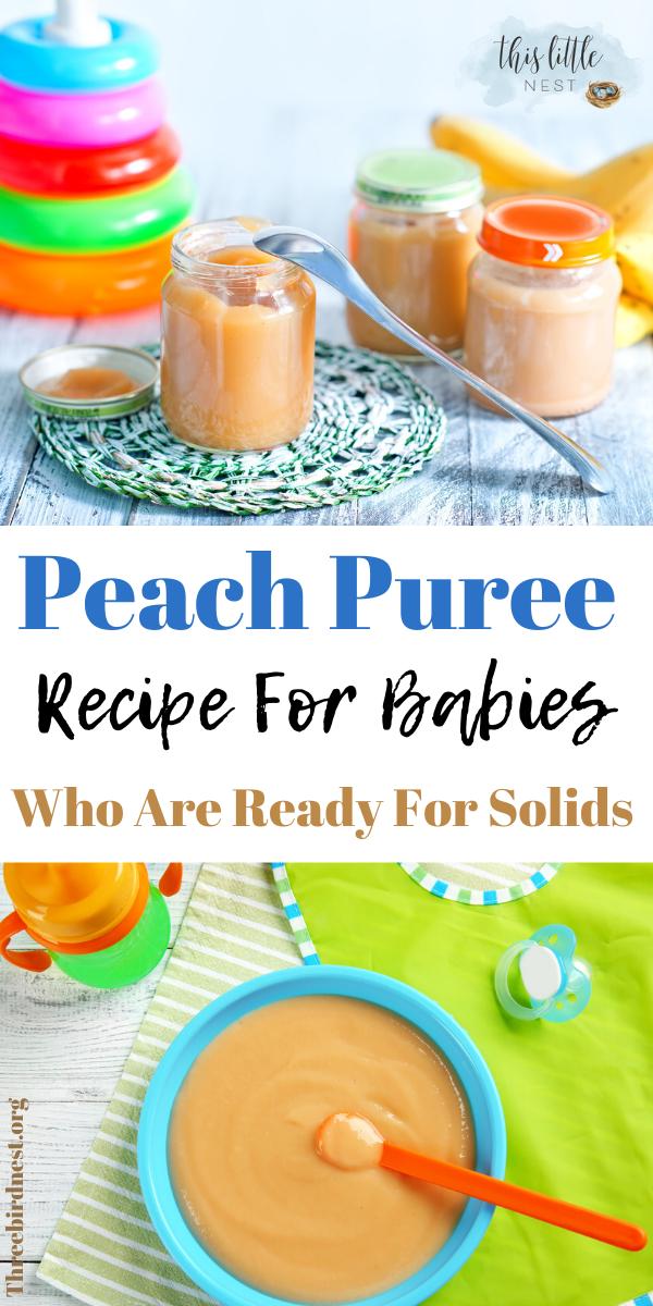 Peach baby puree recipe #pureerecipesforbabies #peachpuree #babyfood #diybabyfood
