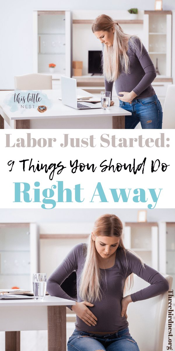 What to do when Labor starts #labortips #childbirthtips