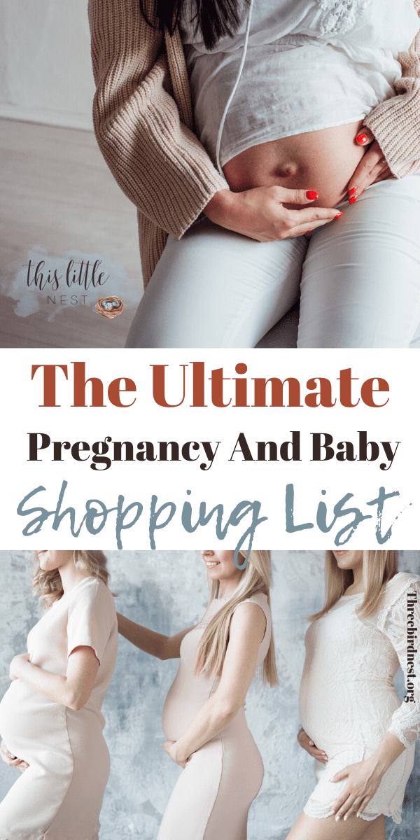 pregnancy and baby buy list of products