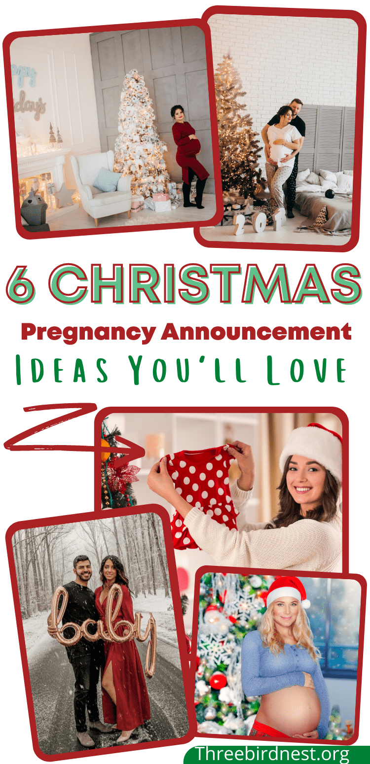 christmas and winter pregnancy announcements