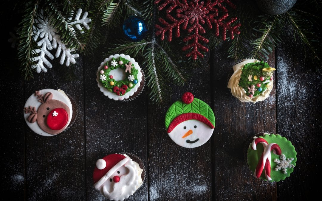 Christmas Wreath Cupcakes | Easy Christmas Cupcakes