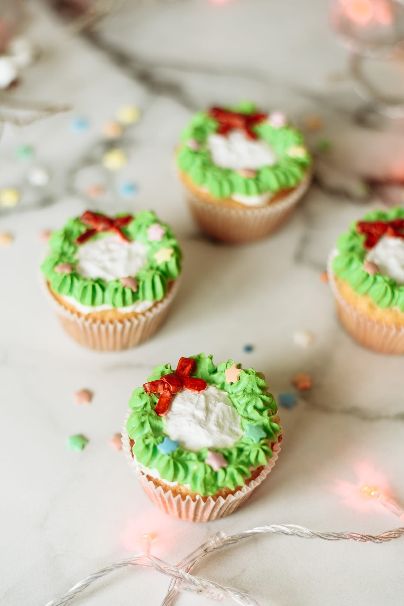 Christmas wreath cupcake ideas