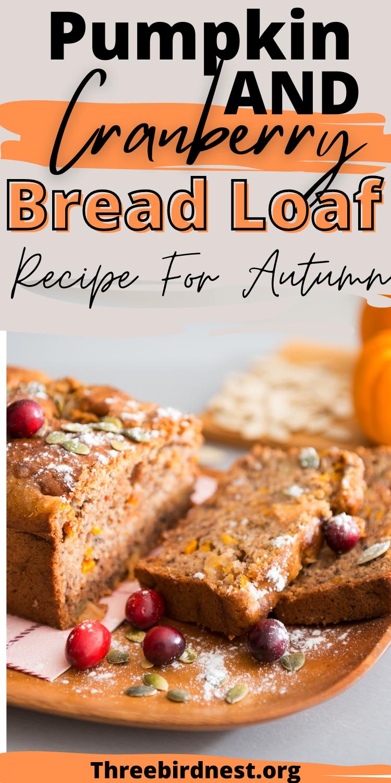pumpkin cranberry loaf recipe